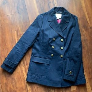 Banana republic navy pea coat with gold buttons